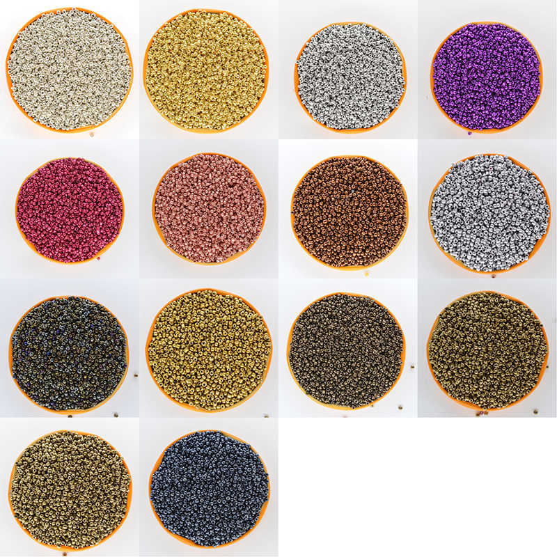 Super Small 2mm Czech Glass Seed Spacer Beads 1000pcs/lot Mixed colors Austria Crystal Round Hole Bead For DIY Jewelry Made
