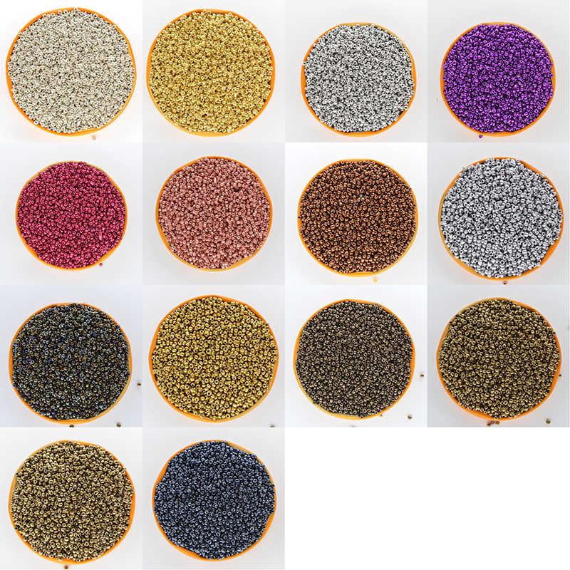 סופר קטן 2mm צ 'כי זכוכית זרע Spacer חרוזים 1000 יח'\חבילה מעורב צבעים אוסטריה קריסטל עגול חור חרוז DIY עשו