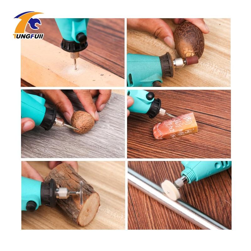 Tungfull Dremel Tools 161pcs Pulido de carpintería para mini taladro - Accesorios para herramientas eléctricas - foto 4