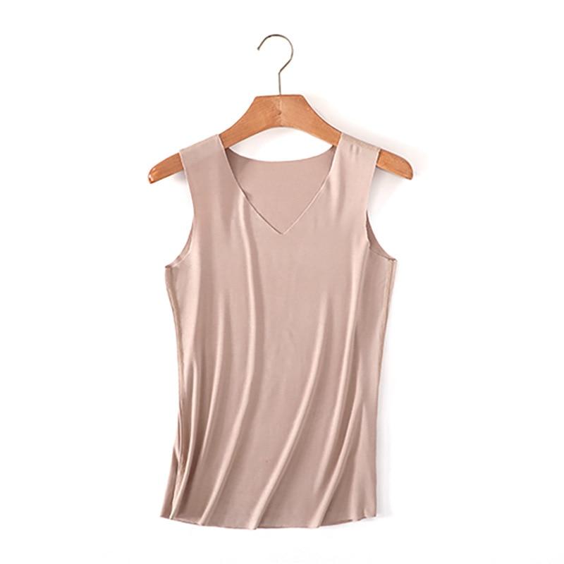 Fashion Summer Tanks Women Sportswear V neck Vest Solid Custom Logo Text Photo Printed Womens Female Sexy No Trace Vest Top