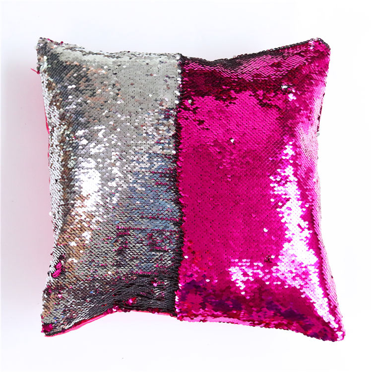 online shop diy mermaid sequin cushion cover magical pink throw pillowcase 40cmx40cm color changing reversible pillow case aliexpress mobile