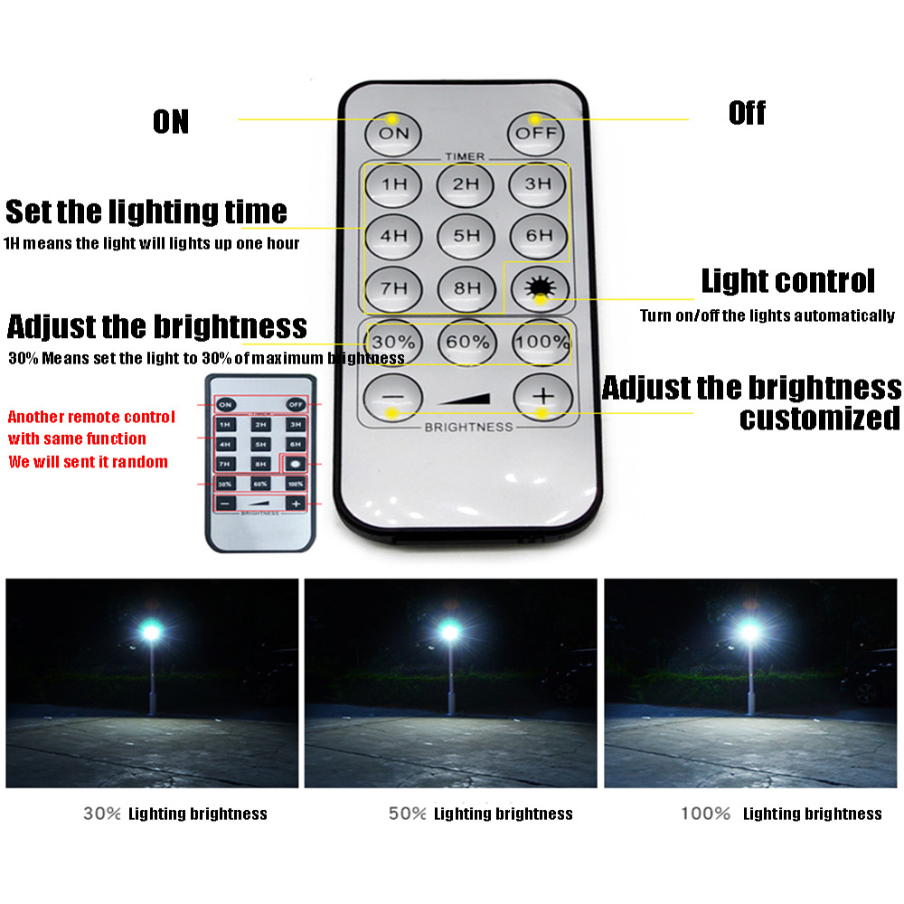 High Power LED Solar Lamp Solar Light Outdoor Waterproof Wall Lamp Security Spot Lighting IP65 Remote Control Solar Wall Lamps - 3