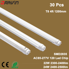 Led Lamp T8 1200mm G13 led tube light 22W 24W fluorescent Led T8 SMD2835 Daylight6500K Nature White 4500K free shipping