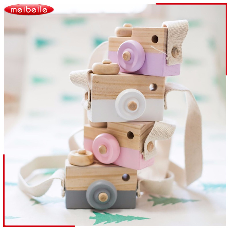 Baby Kids Cute Wood Toy Camera Children Fashion Clothing Accessory Safe And Natural Toys Birthday Christmas