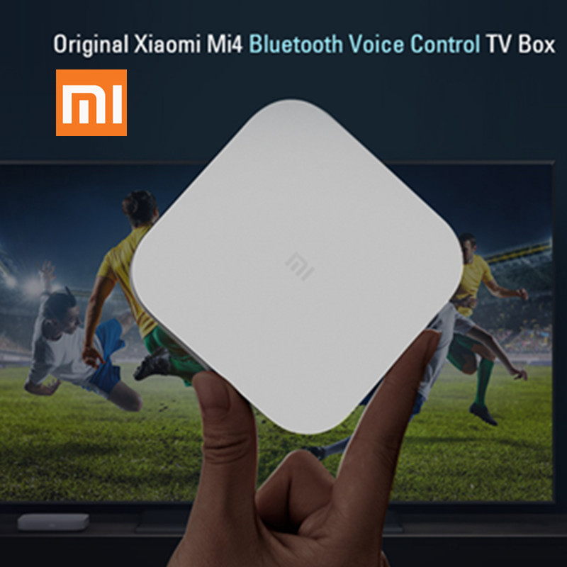 Original Xiaomi Mi4 Smart TV Box Voice Control tv box Amlogic S905L 4k media player smart set-top box 2G 8G 2.4G wify MI BOX купить в Москве 2019
