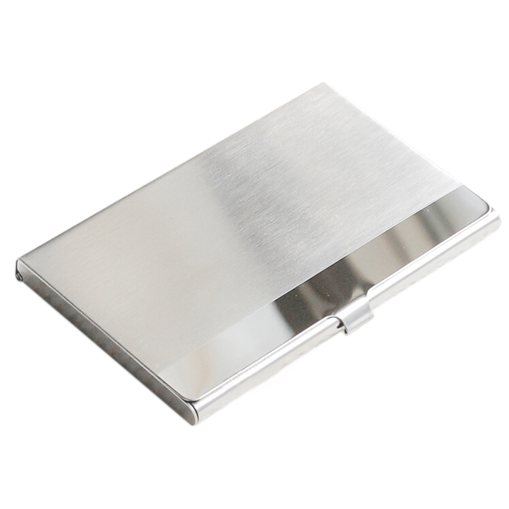 SOSW-Stainless Steel Aluminum Case Transmission Case Commercial Business Card Credit Card holder horizontal surface