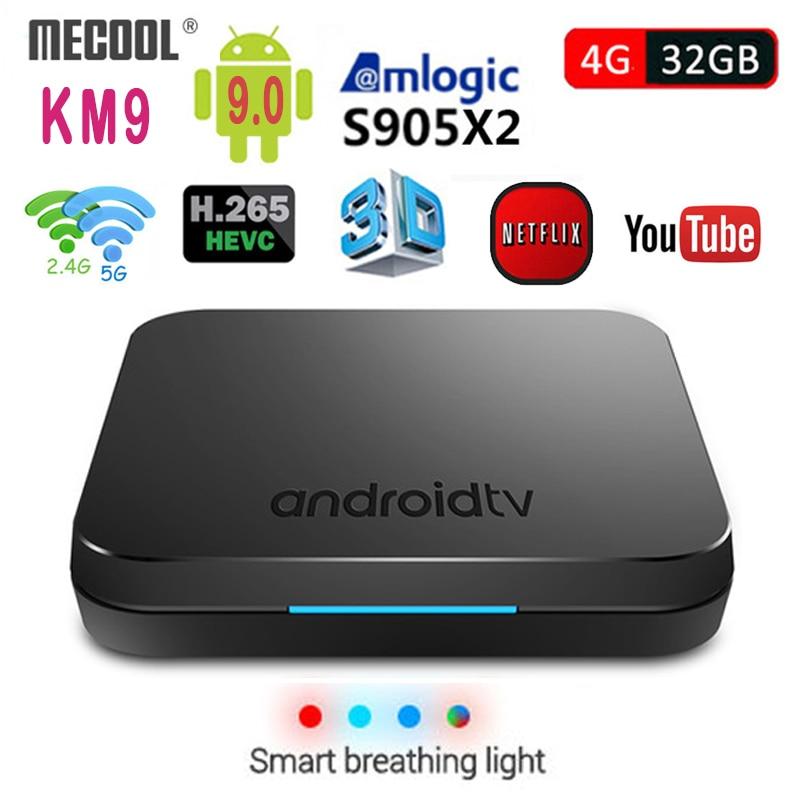 2019 nouveau MECOOL KM9 Android 9.0 TV Box Amlogic S905X2 Quad Core 4G DDR4 32G ROM 4 K Android 9 Smart TV Box USB 3.0 lecteur multimédia