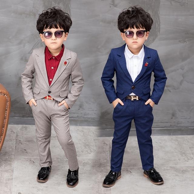 2017 Spring Children Suit Baby Boys Suits Tuxedo Kids Blazer Boy ...