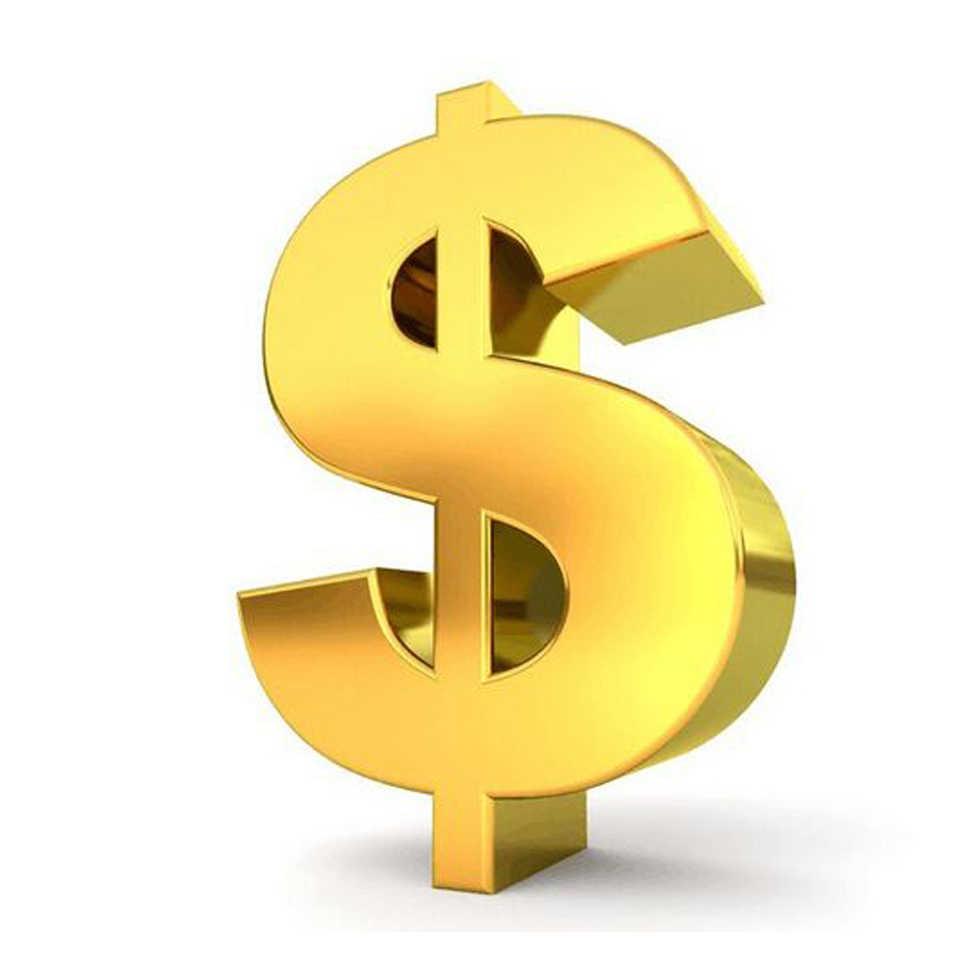 1 US $ Voor verzendkosten of prijsverschil