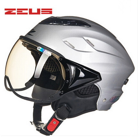 2018 Summer Fashion ZEUS Half Face Motorcycle Helmet ABS Half-covered Harley Retro Electric Bike Unisex Helmets Goggles Anti-UV