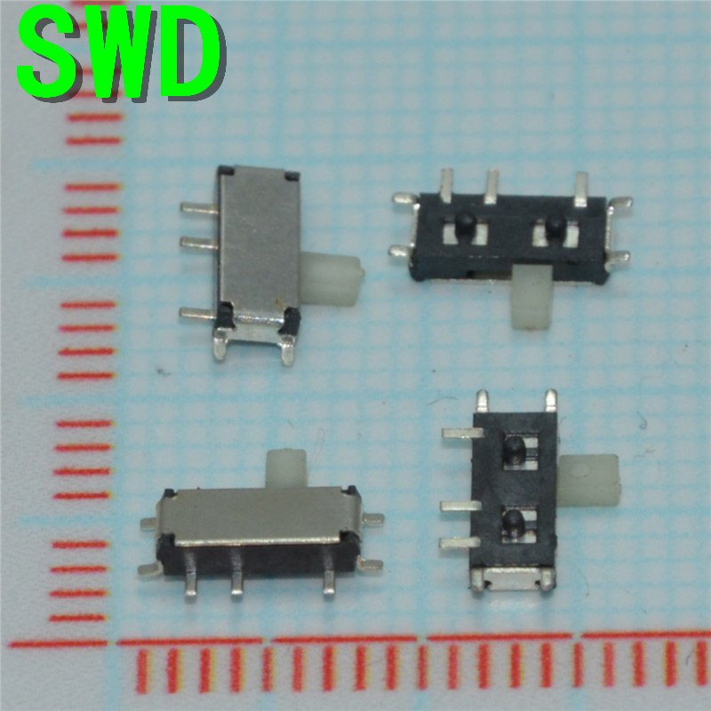 цены  MSK12C01 micro slide switch power supply switch small pull switch 7 p 7 needle miniature toggle switch for mp3 mp4 #DSC0039