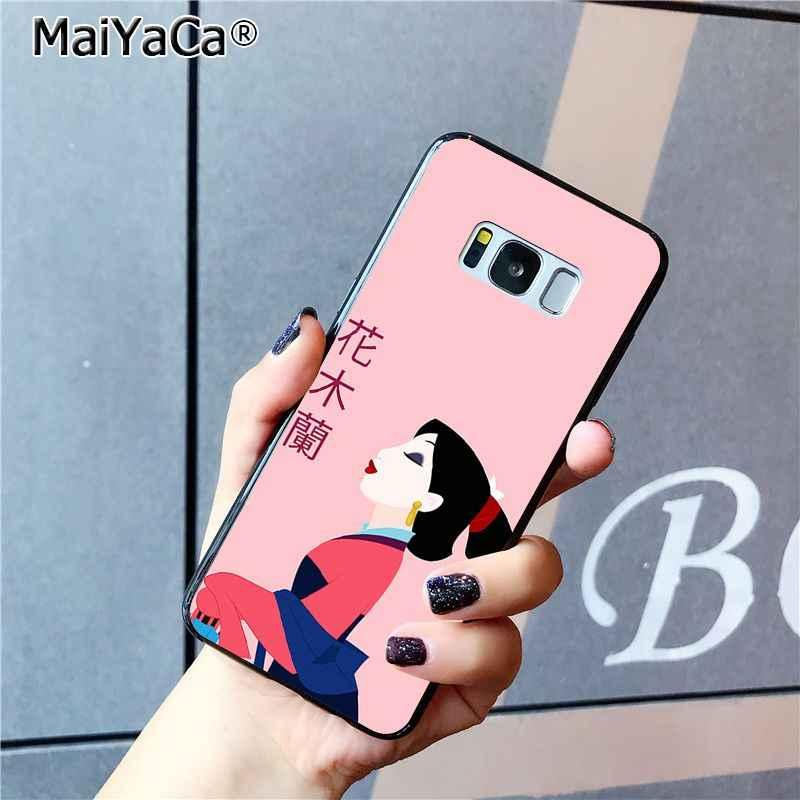 MaiYaCa мультфильм Мулан кино Черный Мягкая Оболочка Чехол для телефона для Samsung Galaxy S6 S7 Edge S6 Edge Plus S5 S9 Plus