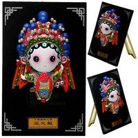 Decoración Artes artesanía regalos de la muchacha casarse Figura de Dibujos Animados adornos plato Chino Hu San Niang características de pequeño gif