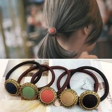 Hot Sale Fashion Sweet Girls Korean Style Tiara Elastic Hair bands Popular Hair Rope Hair Accessories