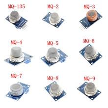 MQ-2 MQ-3 MQ-4 MQ-5 MQ-6 MQ-7 MQ-8 MQ-9 MQ-135 Gas Sensor for Arduino Detector Alarm Natural Gas Sensor Module DIY Starter KIT