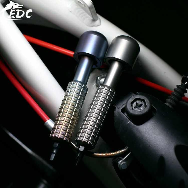 Liga de titânio conjunto chave de fenda palma fingertip chave giroscópio com 10 tipos s2 aço 6mm diferente chave de fenda edc gadget