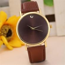 Luxury Brand Womens Watch Fashion Retro Design Leather Band Analog Alloy Quartz Wrist Watch Big Dial Watches relogio feminino