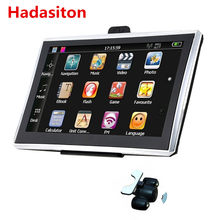 Écran tactile capacitif 7 pouces pour voiture, Navigation GPS, 256M/8G, Navigation par satellite + cartes gratuites, Bluetooth $, caméra de recul sans fil en option