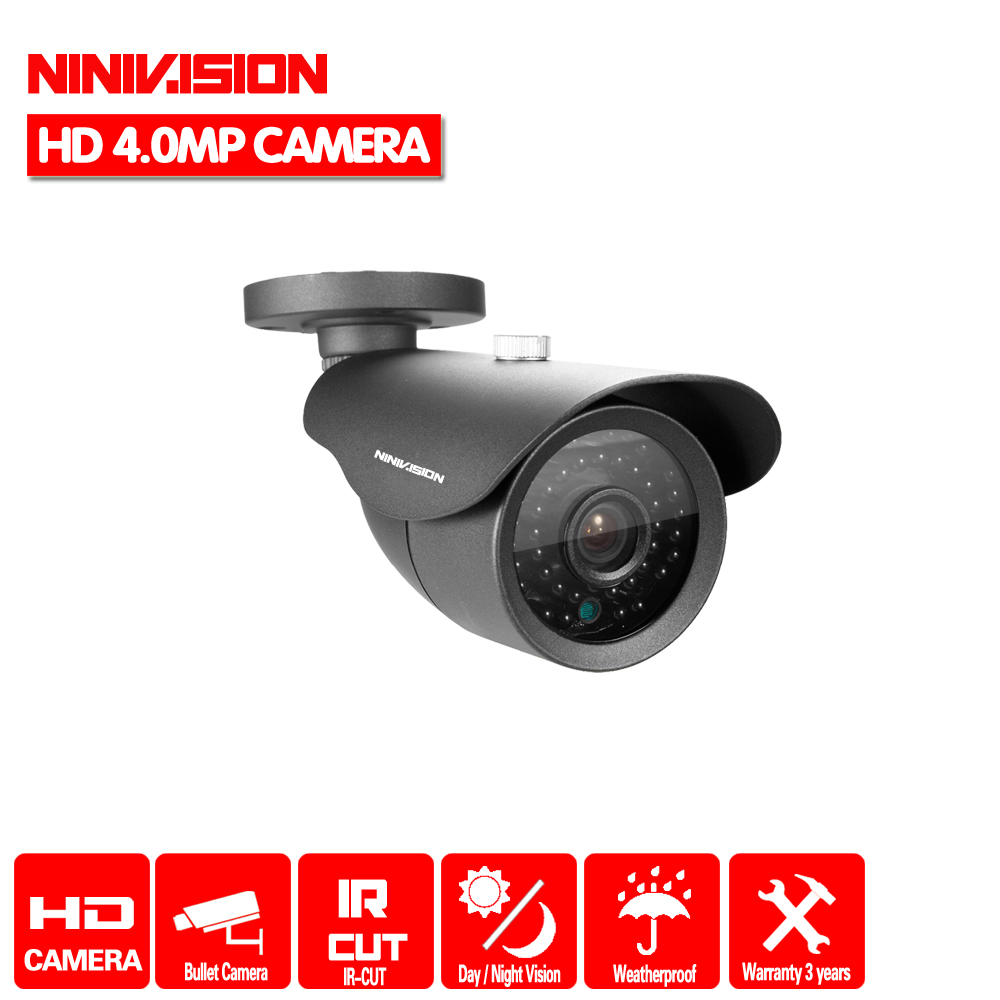 NINIVISION HD 4.0MP 2560*1440P CCTV Camera With IR-CUT Indoor Outdoor CCTV AHD DVR Security Camera Night Vision 36 IR LEDS