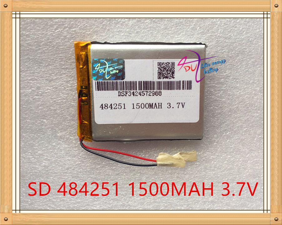 Liter energy battery 484251 3.7V lithium polymer battery 504050 1500mAh C430 GPS navigator 494251 recorder 3 7v 1500mah 494251 lithium polymer battery mp3 mp4 navigation instruments small toys and other products universal battery