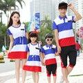 La familia a juego traje a rayas Family Clothing madre e hija vestido de padre hijo ropa ropa del padre niño LB60