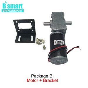 Image 2 - Bringsmart 12V DC Double Shaft Worm Gear Motor High Torque 70kg.cm 24 volt Motor Mini Turbine Worm Reducer Reversible A58SW31ZYS