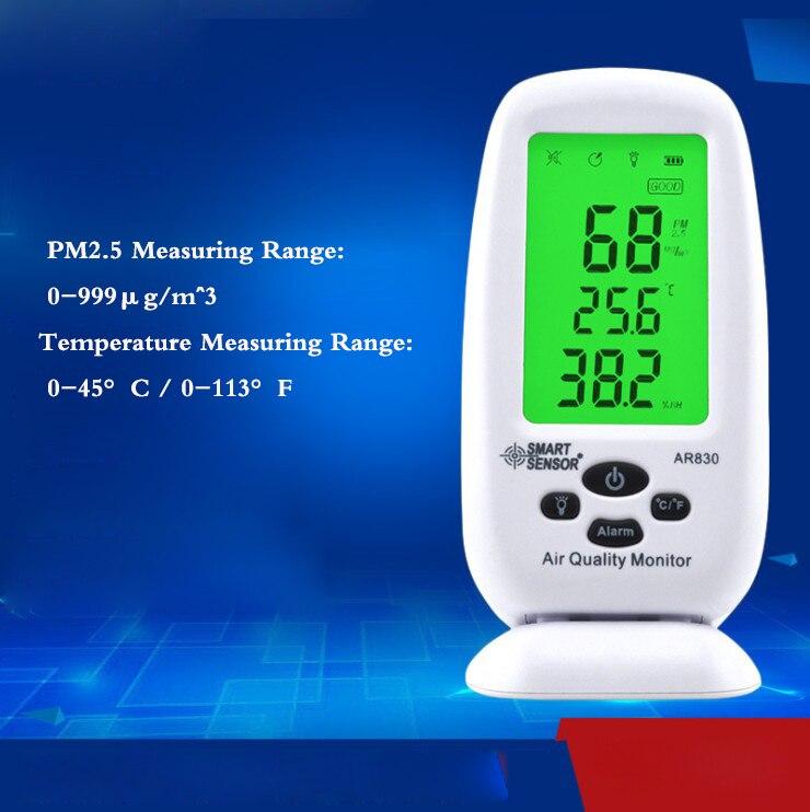 Numérique Air Qualité Moniteur PM2.5 Détecteur Smart Sensor Température Humidité W/Carry CAS Thermomètre Hygromètre AC100-240V