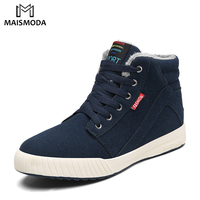 MAISMODA Men Winter Boots Big Size 39 48 Warm Winter Boots Male Plush Warm Lovers Boots Snow Weather Footwear YL379