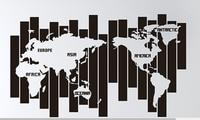 Map of the World Vinyl Wall Decal Creative World Map Mural Art Wall Sticker Office Living Room Bedroom Map Wall Sticker Decor