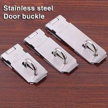 tool box latches 5pcs Stainless Steel 3in/4in/5in Door HASP Padlock Clasp Anti Theft Lock Catch door security chain недорого