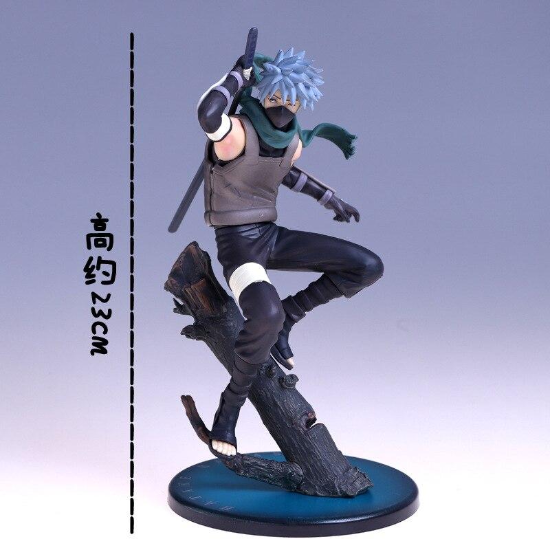 Action figure Naruto Hatake Kakashi On Trees Anime Cartoon Figure Model Toys 21cm