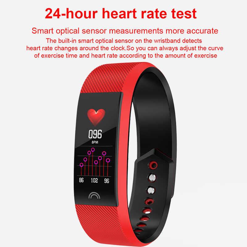 الذكية معصمه سوار لياقة بدنية للماء جهاز تعقب للياقة البدنية مراقب معدل ضربات القلب الذكية الفرقة الرياضة ساعة عداد خطى لالروبوت IOS