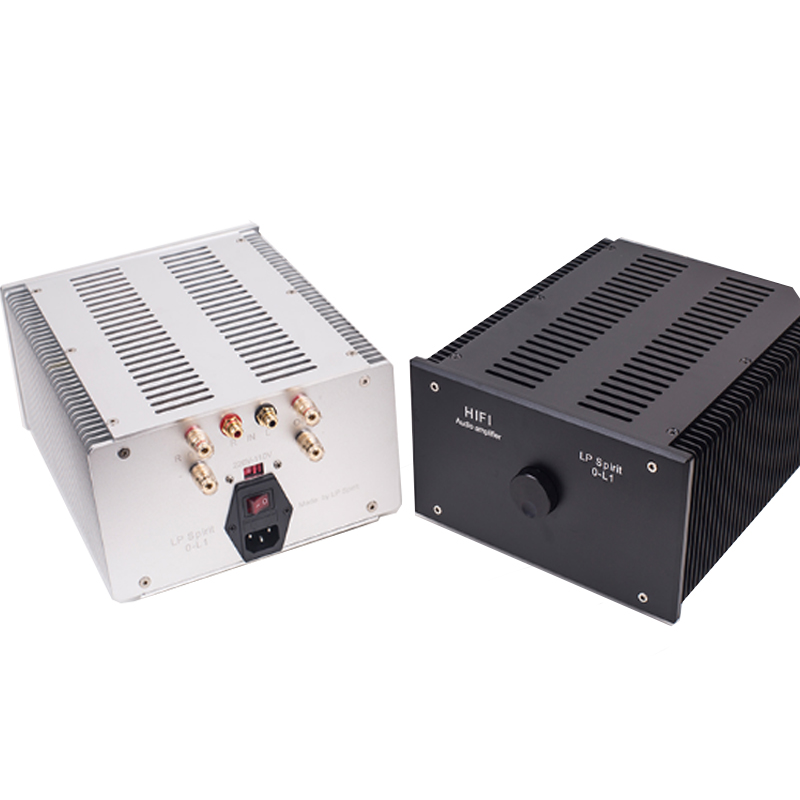 New Lp Spirit O-L1 Mini Stereo Hifi Audio Amplifier Pure Class A Computer Desktop Home Power Amp 2.0 Bile Machine Silver&Black name machine b 108 circuit no big loop negative feedback pure post amplifier hifi fever grade high power 12 tubes