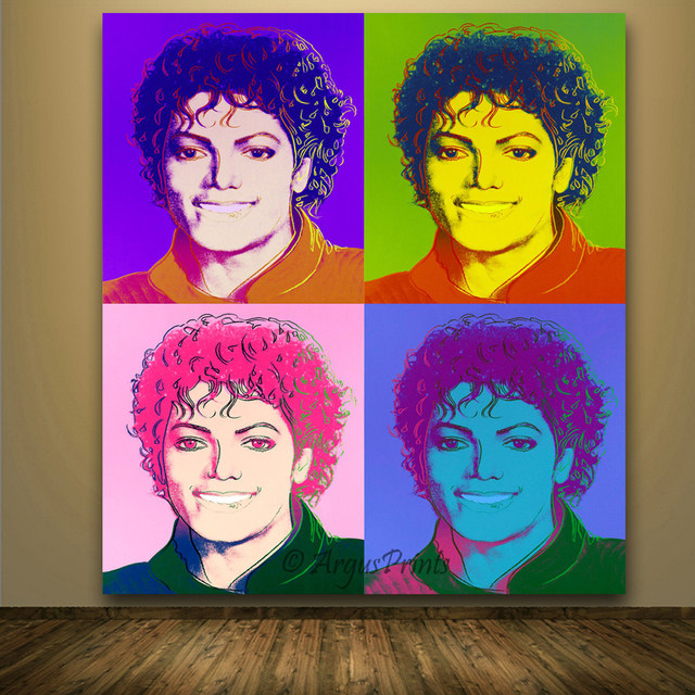 Hot Sale Michael Jackson Printed Oil Painting Art Prints On Canvas Modern Andy  Warhol Abstract Paintings