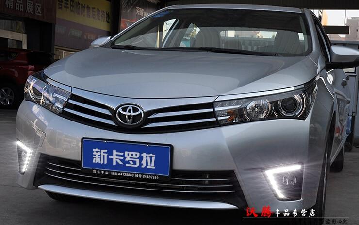 автомобиль-специальные светодиодные DRL фары дневного света для Тойота Королла 2013-2014 супер яркий новый дизайн