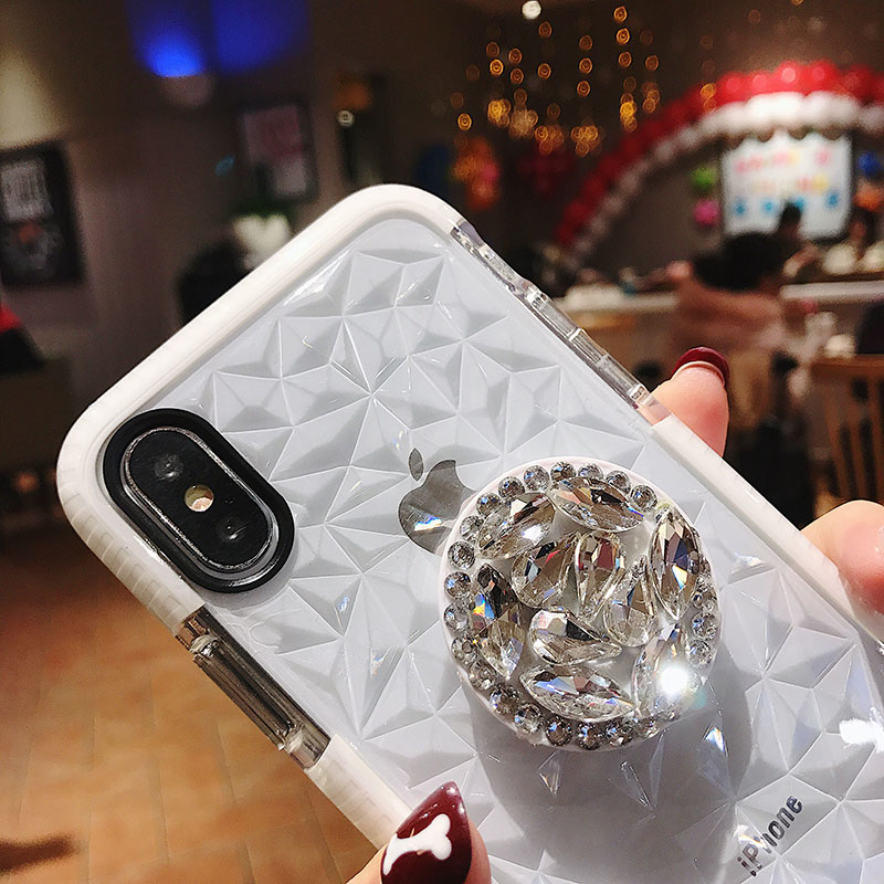 HTB1i.dPLNYaK1RjSZFnq6y80pXa2 Luxury diamond cute hair ball lanyard bracket soft case for iphone 7 X XR XS 11 pro MAX 8 6S plus for samsung S10 S8 S9 Note A50