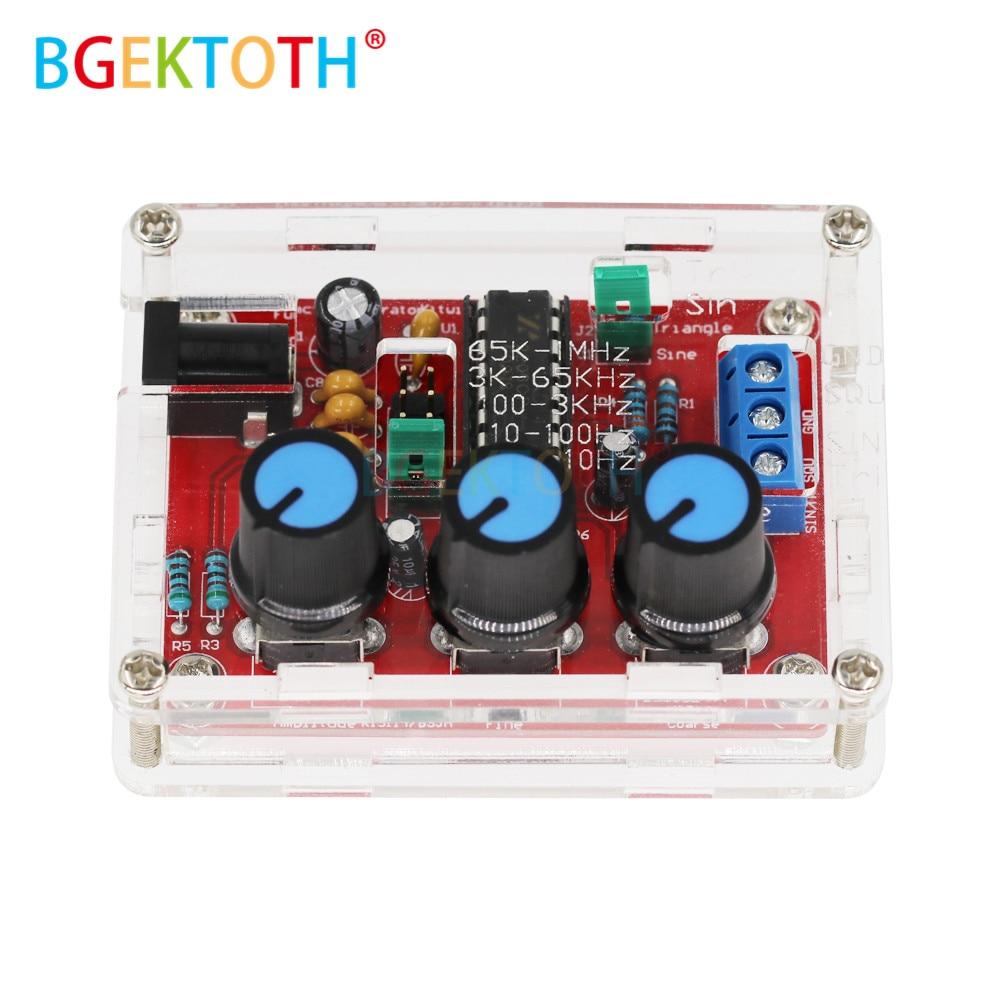 Функциональный генератор сигналов DIY Kit треугольный выход 1 Гц-1 МГц генератор сигналов Регулируемая амплитуда частоты XR2206 DDS