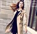 2016 новый двубортные пальто сплошной цвет большой размер случайный стиль горячей продажи продукции