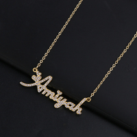 2019 New Custom Zirconia Necklace Name Necklaces Classic Women's Wedding Jewelry Fine Necklace Accessory Gift Dropshipping