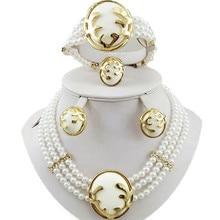 Ювелирные изделия, Африканский бисер, наборы свадебных ювелирных изделий, золотой ювелирный набор, вечерние ювелирные изделия, набор женских бусин, ожерелье