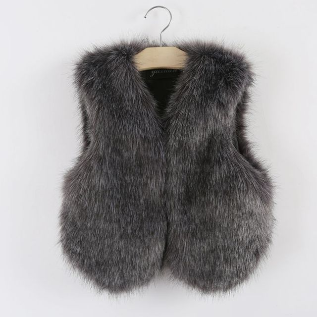 ff3f89c89 infant toddler little baby girls fur vest fashion children winter ...