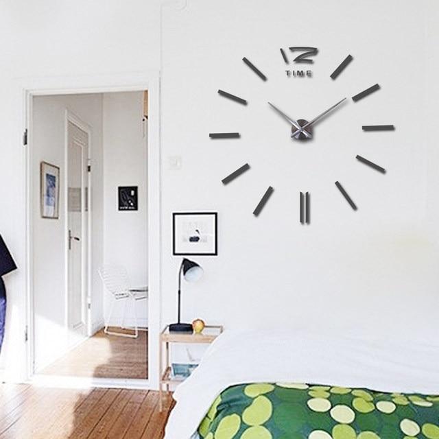 Diy Clock Part - 27: Hot Sale Wall Clock Large Decorative Wall Clocks Home Decor Diy Clocks  Living Room Reloj Mural Sticker