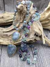 Natural Labradorite and Fluorite Necklace