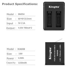 Image 2 - 2019 1/2/3 pièces pour Insta 360 batterie rechargeable + affichage Intelligent double fentes chargeur pour Insta360 One X Camer accessoires