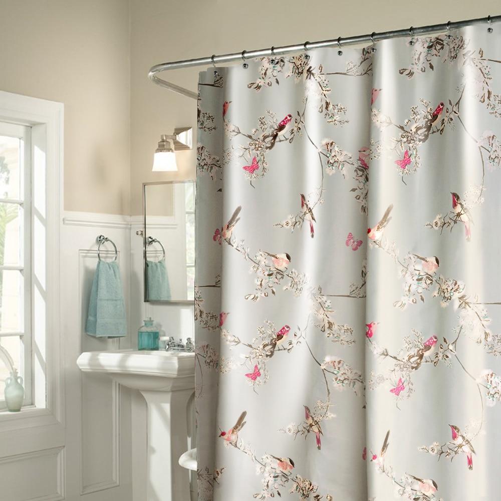 High-grade bathroom shower curtain shading curtain waterproof curtain opaque partition bath shower curtain suit interdesign daizy shower curtain
