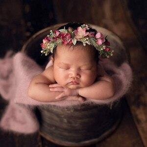 Newborn fotografia adereços recém-nascido flor bandana bebê menina headbands acessórios para o cabelo bebe adereços