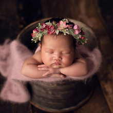 лучшая цена newborn photography props newborn flower headband baby girl headbands  hair accessories bebe props