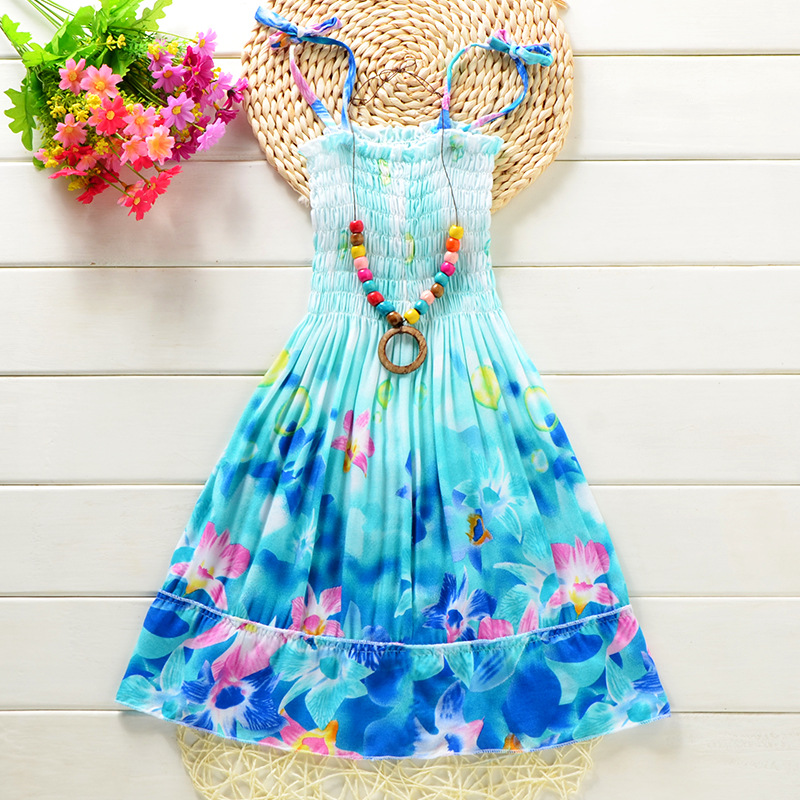 Summer-Bohemian-Style-Girls-Dress-Floral-Shoulderless-Beading-Necklace-Sundress-For-Girls-Beach-Dress-Clothes-Vestido-Infantil-3