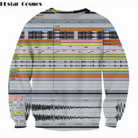 PLstar Cosmos Ableton Live Crewneck Sweatshirt favorite among music production software 3d print jumper Women Men Casual Outfits
