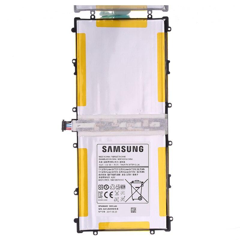 SAMSUNG batería recargable Original para Samsung Google Nexus 10 auténticos Tablet batería SP3496A8H 9000 mAh GT-P8110 HA32ARB